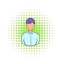 Businesswoman icon in comics style vector image