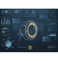 Future concept virtual touch user interface HUD vector image