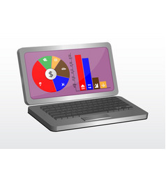 laptop graphic design can be used as an element vector image vector image