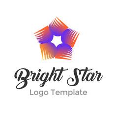 modern bright star logo design template modern vector image