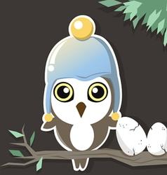 owl in the dark vector image vector image
