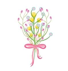 Spring wild flower bouquet vector image vector image