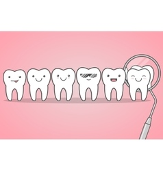Teeth check at the dentist vector image vector image