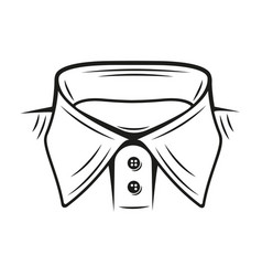 A collar shirt vector