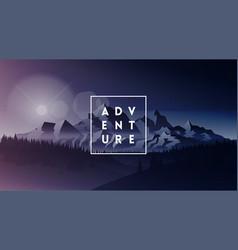 adventure minimalistic white typographic logo in vector image