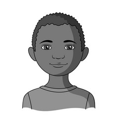 Africanhuman race single icon in monochrome style vector