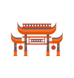 asian gates entrance with roof vector image