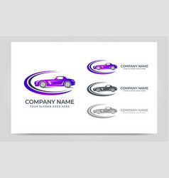 automotive car logo design editable logo design vector image