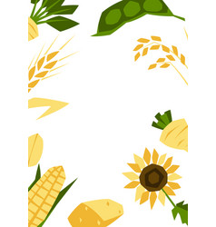 background with agricultural crops harvesting vector image