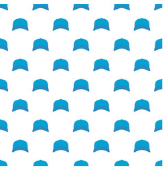 baseball cap in front pattern seamless vector image