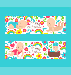 bashower for newborn happy vector image