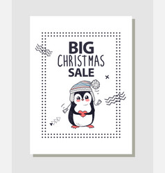 Big christmas sale promotion vector