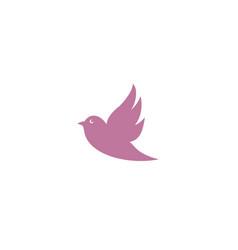 Bird dove open wings flying logo design pigeon vector