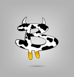 bitcoin sign icon for internet money cartoon vector image