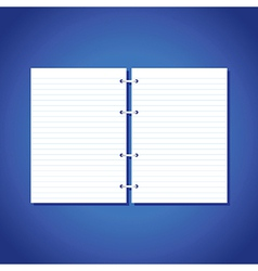 blank pages of paper vector image