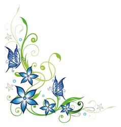 Blue flowers series vector