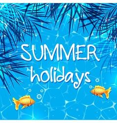 Blue summer marine background vector image