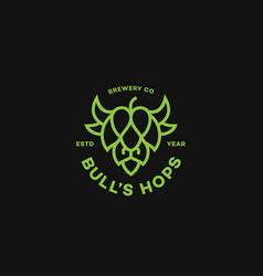 bulls hops logo vector image