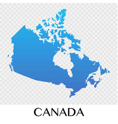 Canada map in north america continent design vector