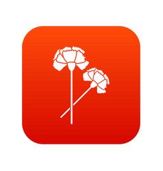 carnation icon digital red vector image