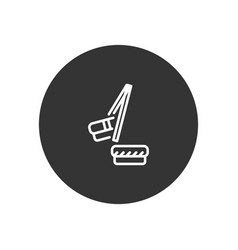 chopsticks icon in modern style for web site and vector image