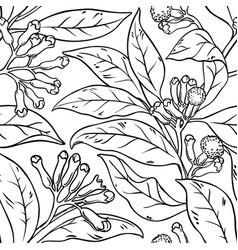 clove seamless pattern vector image