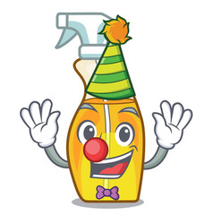 clown spray bottles are isolated from cartoons vector image