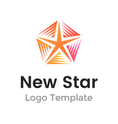 colorful new star logo design template modern vector image