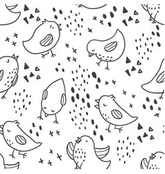 cute birds seamless pattern vector image
