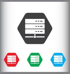 Database server icon sign icon storage vector
