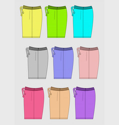 Design template shorts color bright vector