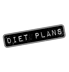 diet plans rubber stamp vector image