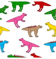 Dinosaurs seamless pattern vector image