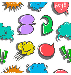Doodle of speech bubble style colorful vector