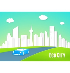 Eco city concept vector