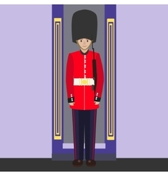 English guard cartoon vector image