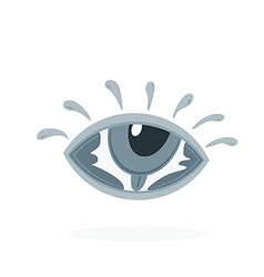 eye letters in eye vector image