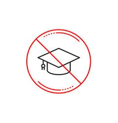 graduation cap line icon education sign vector image