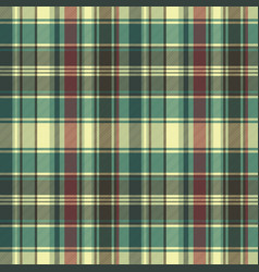 green red plaid check fabric texture seamless vector image