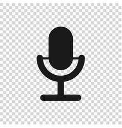 Microphone Icon on Transparent Background Vector Images