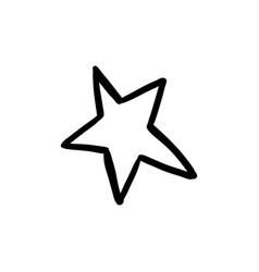halloween doodle star element isolated vector image
