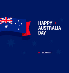 happy australia day celebration card with national vector image