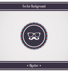 Hipster glasses and mustache vector