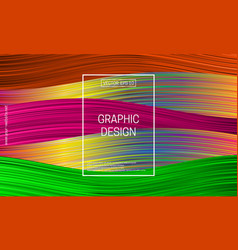 holographic geometric background colorful striped vector image