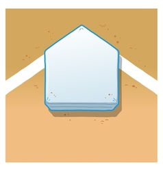 Home Plate vector