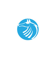 Horse head in circle steed or mare for logo vector