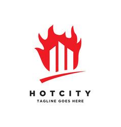 hot city logo vector image