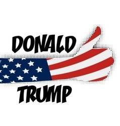 Human hand supporting Donald Trump USA vector image
