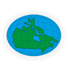 icon map of canada vector image