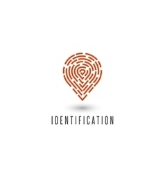 Identification personal fingerprint creative idea vector image